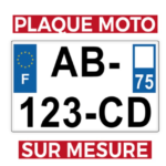 KUSTOM STORE MOTORCYCLES - KS - PLAQUE D'IMMATRICULATION MOTO SUR MESURE - PLEXI